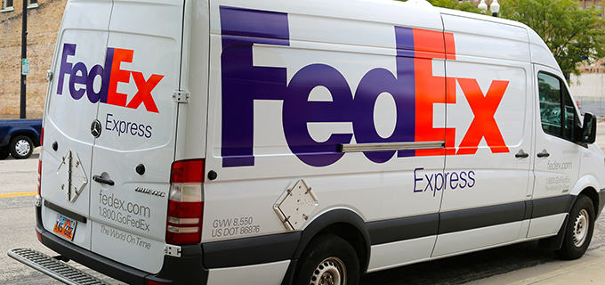 Fedex Mail Delivery Truck