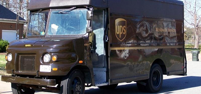 UPS Mail Delivery Truck